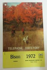 Vintage 1972 BISON, KANSAS Telephone Directory Phone Book Yellow Pages