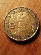 Moneta 2 Euro Rara Austria 2003 Errori Di Conio doppio bordo con  esuberi