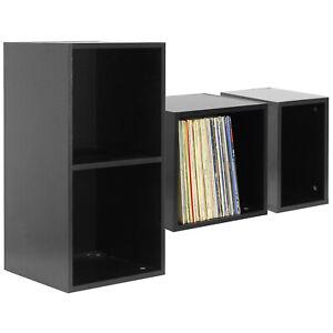 "HARTLEYS BLACK VINYL LP MUSIC RECORD STORAGE BOX CUBE 12"" CASE DJ STUDIO CABINET"