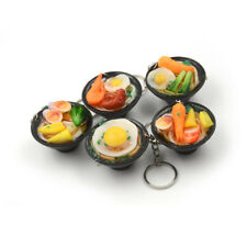 Ramen Lanyard  Design Simulation Food Keychain Noodles Vegetables Kids Toy Vv