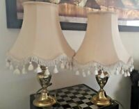 Lovely Pair of Matching Vintage Prestigious Brass Table-Lamps in GWO
