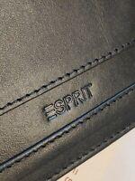 Esprit Leder Portemonnaie mit Logo Prägung Schwarz Geldbörse Karten Scheine NEU