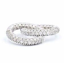 18k Pavé Diamond Inside Outside Huggie Earrings