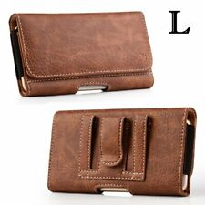 Samsung Galaxy Note10 5G - Brown Leather Belt Clip Horizontal Pouch Holster Case