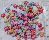 100 Perles Intercalaires Acrylique Ourson Création Bijoux Collier Bracelet *P60
