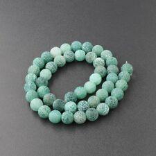 "Natural Stone Sea Sediment Gemstone Round  Beads DIY Bracelets 15"" 4mm 6mm 8mm"