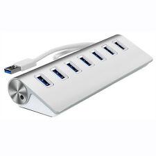 7 Port USB 3.0 External HUB Verteiler Splitter Adapter Für Laptop PC Macbook