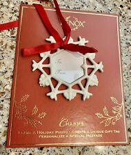 Lenox Porcelain Charm Photo Frame Ornament Snowflake #6386064 Nos