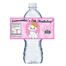 20 ARISTOCATS PERSONALIZED BIRTHDAY PARTY FAVORS ~ WATER BOTTLE LABELS WRAPPERS
