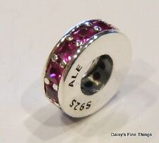 NEW! AUTHENTIC PANDORA CHARM  ETERNITY RUBY RED SPACER #791724SRU
