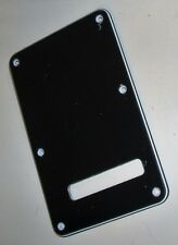 Fender Deluxe Series Stratocaster 3 Ply Black Tremolo Cover with Screws