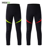 Mens Winter Cycling Pants Water Repellent Windproof Thicken Tights Bike Trousers