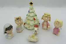 LENOX - PEANUTS THE CHRISTMAS PAGEANT - 7 PIECE SET EXCELLENT CONDITION WITH BOX