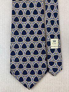 "Countess Mara Masterpiece Neiman Marcus All Silk Tie Hand Made in US 58"" x 3.75"""