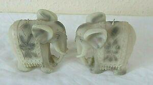 2 NEW  ELEPHANT CANDLES 11 W 10 H X 5 CM W