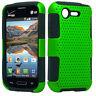 Lg Optimus Fuel L34C MESH Hybrid Silicone Rubber Skin Case Phone Cover Accessory