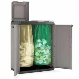 ARMADIO PLASTICA PVC SPLIT BASIC RACCOLTA DIFFERENZIATA INDIFFERENZIATA (34461)