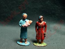 Lionel O Scale Lead Figures Women W/Baby and Lady in Red Nice American Flyer