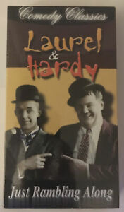 Laurel & Hardy Just Rambling Along VHS Comedy Classics New Sealed Silent Movie