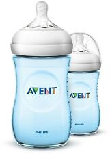 PHILIPS AVENT BABY FEEDING NATURAL 260ml/9oz BOTTLE X2 BLUE