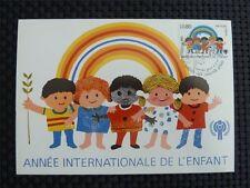 ONU Ginevra MK 1979 anno del bambino maximum carta carte MAXIMUM CARD MC cm c2715