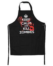 Darkside Clothing Keep Calm And Kill Zombies d'horreur gothique Tablier de cuisine noir