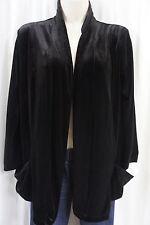 Elementz Sweater Sz S Black Velvet Long Sleeve Pockets Dinner Cocktail Evening