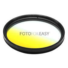 77mm 77 mm Graduated Gradual Yellow LENS Filter Round