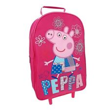 Peppa Wheeled Wheelie roll on roller luggage travel school bag
