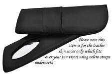 Surpiqûres noir s' adapte LOTUS EXCEL 83-91 2x pare-soleil cuir couvre uniquement