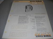 Sony tcm-111 grabadora de cassette Service Manual incl. información de servicio