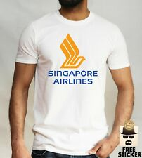 Singapore Airlines T-shirt Plane Airport Crew VARIOUS Sizes & Colours Asia Gift