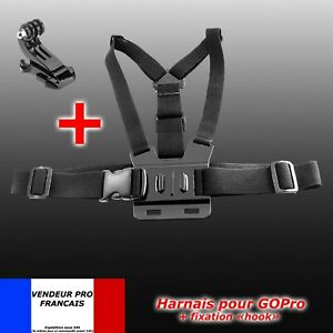 Harnais gopro support fixation poitrine torse  pour Caméra GoPro HD Hero 2 3 4 5