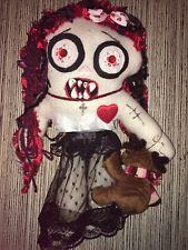 "Zombie Horror Handmade Rag Doll 18"" Creepy Gothic Ooak ""Electra"""