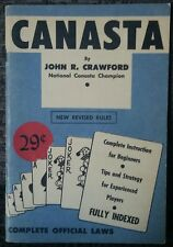 Canasta Vintage Card Game Instructions Guide John Crawford Out Of Print Rare!