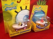 Spongebob Squarepants And Patrick Pull Back Action Hot Rod Boat Cars NEW!