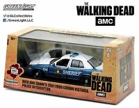 Greenlight 2001 Ford Crown Victoria The Walking Dead Rick and Shane's 1:43 86504