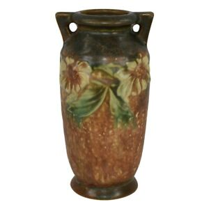 Roseville Pottery Dahlrose 1928 Arts And Crafts Vase 363-6
