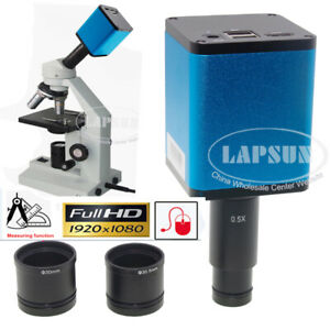 HDMI Industry C-Mount Microscope Camera Sony 290 Measure + 0.5X Eyepiece Adapter