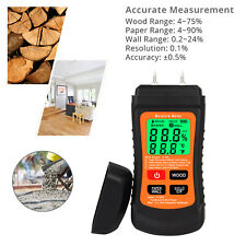 Digital Lcd Moisture Meter Damp Detector Wood Paper Firewood Humidity Tester Pin