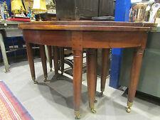 ancienne table ep louis XVI 18 eme demi lune de chateau noyer 10 pieds allonges