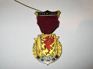 Royal Masonic Benevolent Institution Steward Jewel 1953