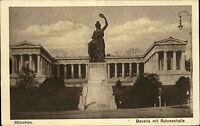 München Bayern alte Ansichtskarte 1922 Partie an der Bavaria mit der Ruhmeshalle