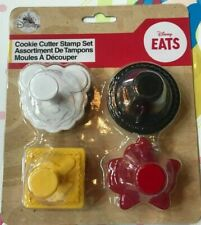 Disney Mickey Mouse Cookie Cutter Stamp Set NEW