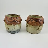 Vintage UCTCI Japan Gempo Ceramic Pottery Coffee Cup Stoneware Mug Lot Of 2