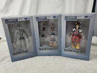 Set 3x Disney Kingdom Hearts Diamond Select Action Figures Donald/Dusk/Sora NIB