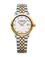 Raymond Weil Freelancer Ladies Quartz 12 Diamond Two-Tone Watch 5629-STP-97081
