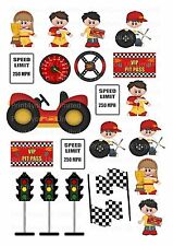 22 icing cupcake cake toppers decorations edible racing car images birthday