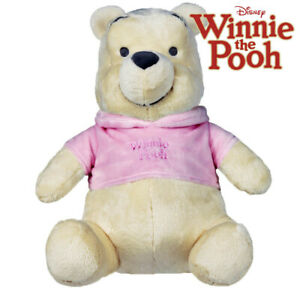 Winnie the Pooh Pink Extra Soft Tonal Official Disney 10 Inch Plush Soft Toy