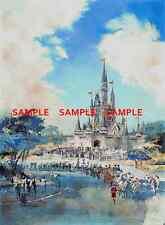 Vintage Disney 1969 ( Cinderella Castle ) Collector's Poster Print - B2G1F